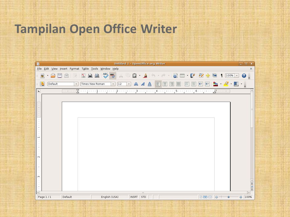 Tampilan Open Office Writer