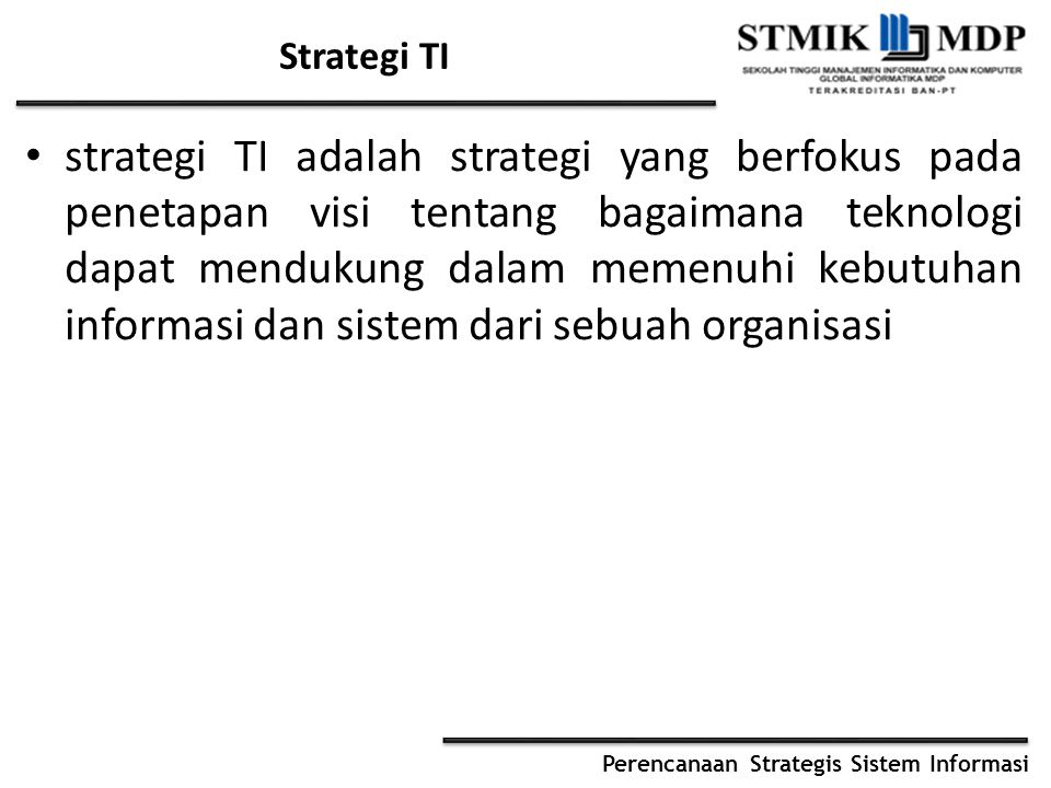 Strategi TI