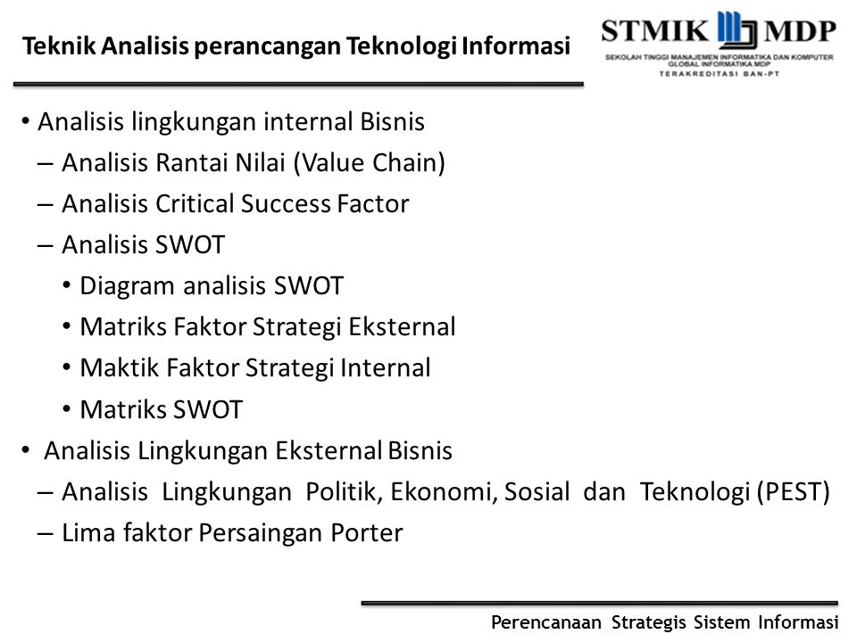 Teknik Analisis perancangan Teknologi Informasi