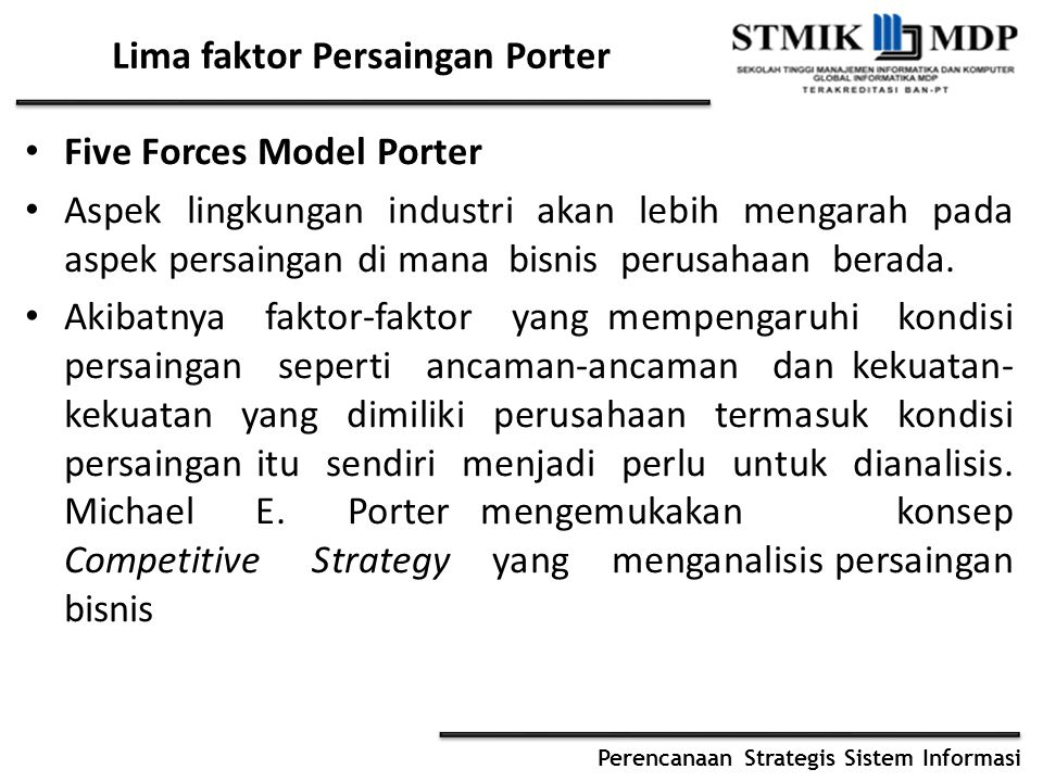 Lima faktor Persaingan Porter