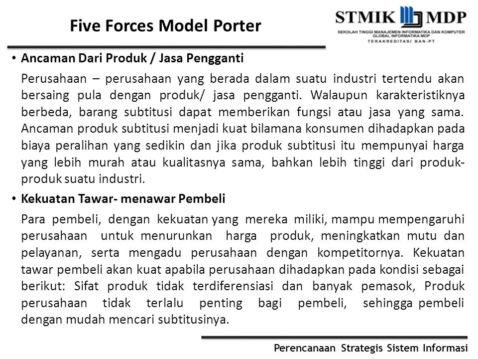 Five Forces Model Porter
