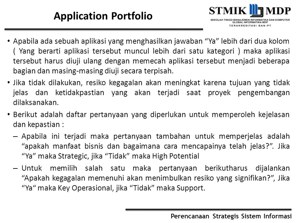 Application Portfolio