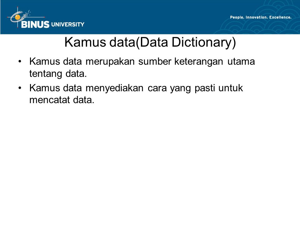Kamus data(Data Dictionary)