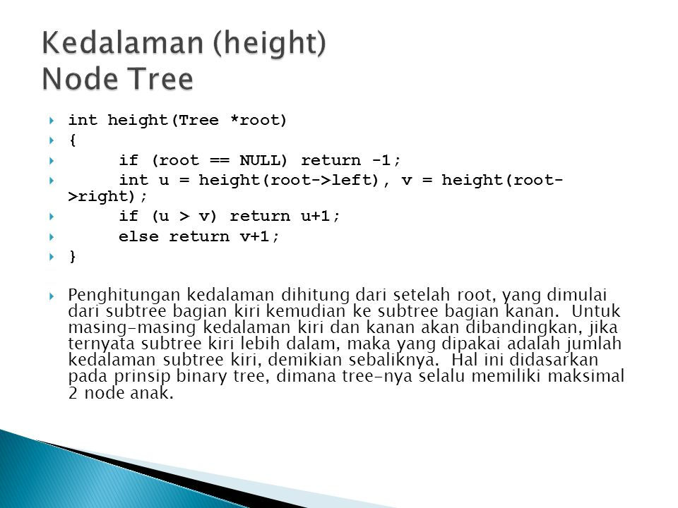 Kedalaman (height) Node Tree