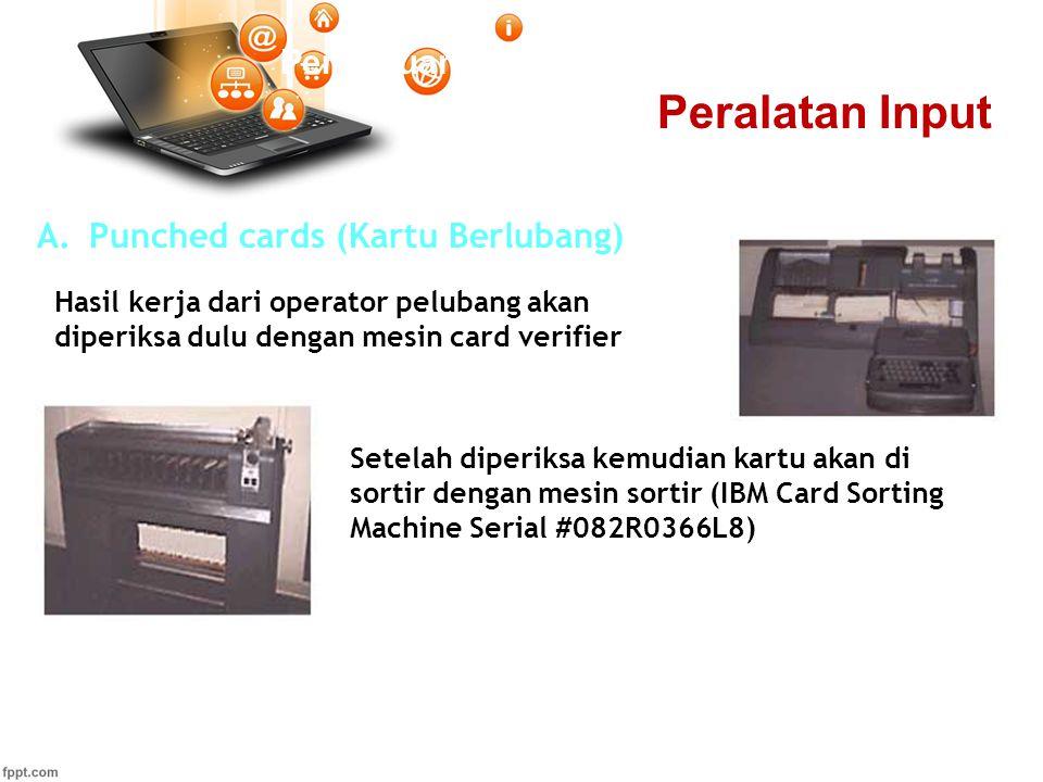 Peralatan Input Pertemuan 2 Punched cards (Kartu Berlubang)