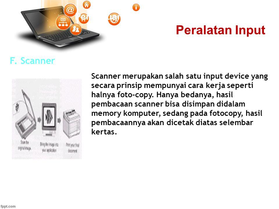 Peralatan Input Pertemuan 2 F. Scanner