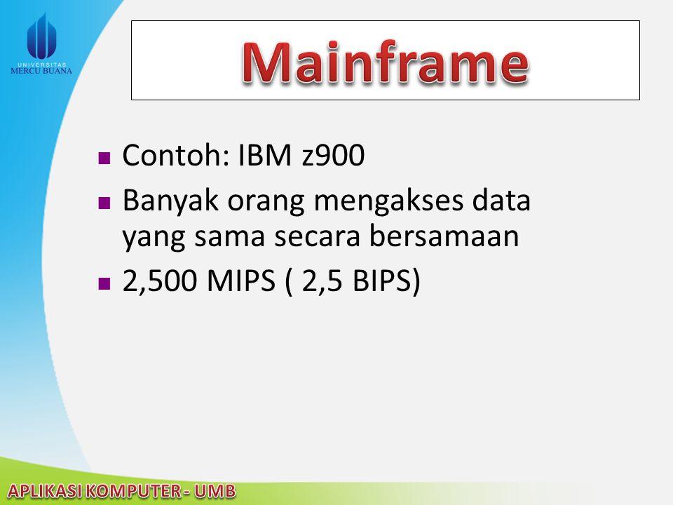 Mainframe Contoh: IBM z900