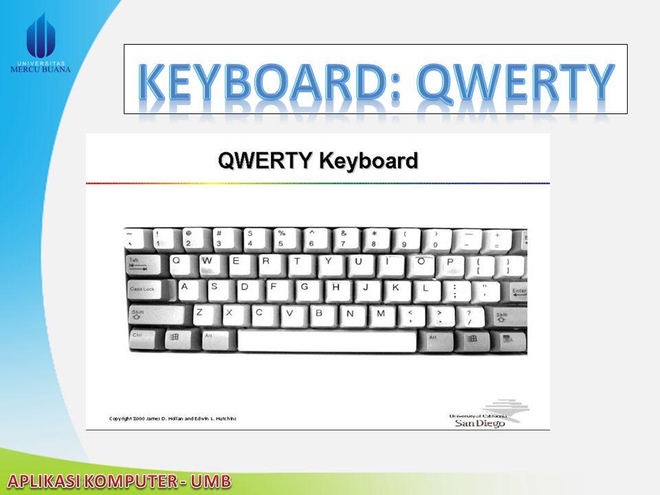 Keyboard: QWERTY