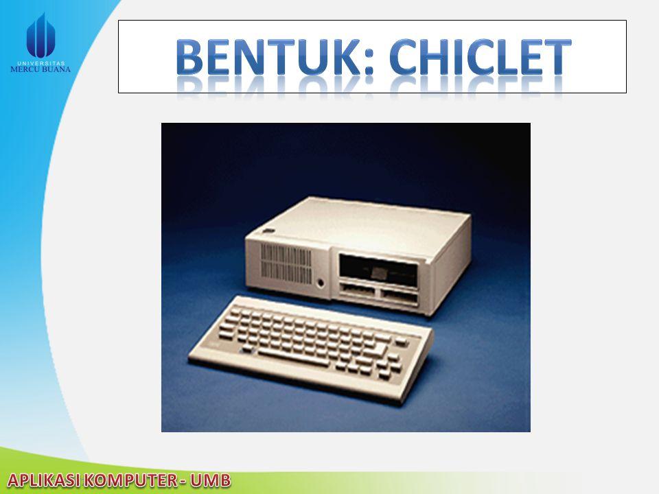 Bentuk: chiclet