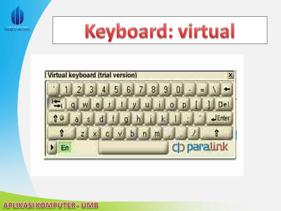 Keyboard: virtual