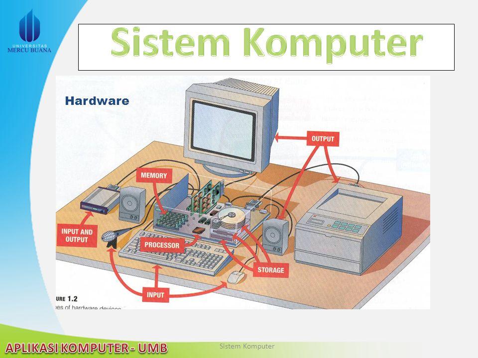 Sistem Komputer Hardware Sistem Komputer 2