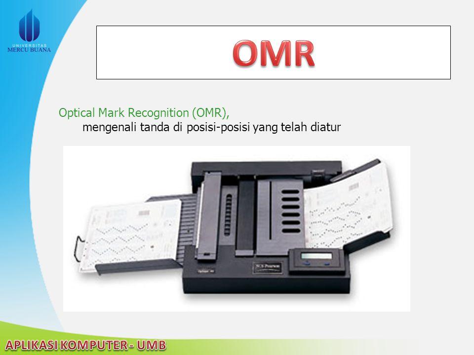 OMR Optical Mark Recognition (OMR),