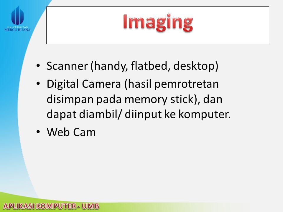Imaging Scanner (handy, flatbed, desktop)