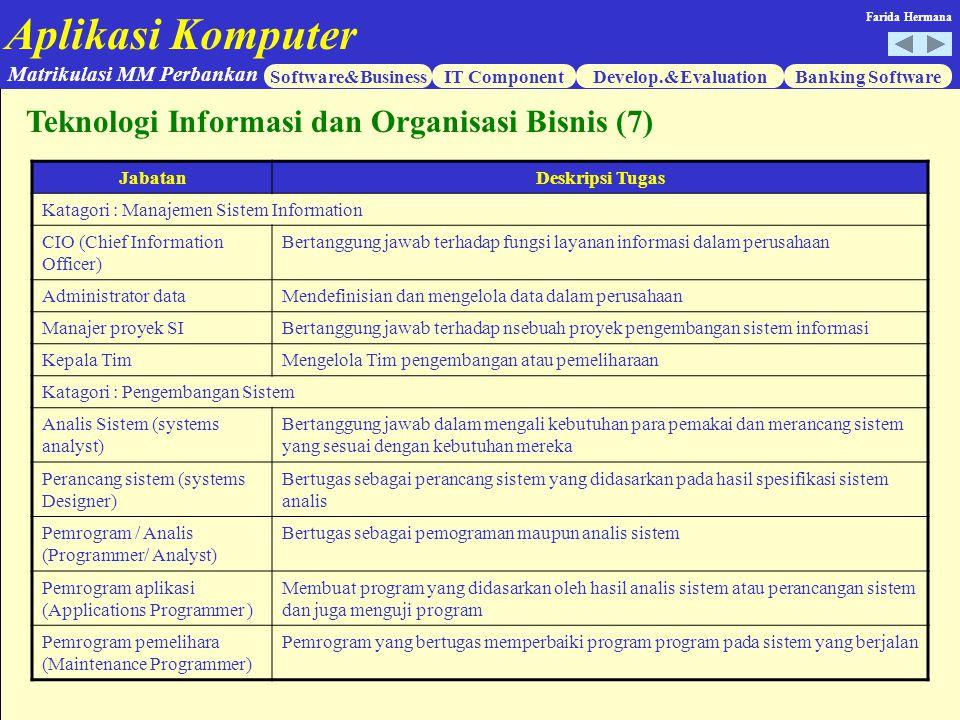 Teknologi Informasi dan Organisasi Bisnis (7)