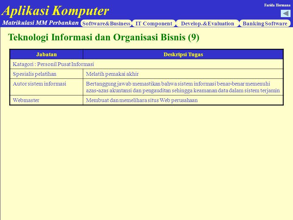 Teknologi Informasi dan Organisasi Bisnis (9)