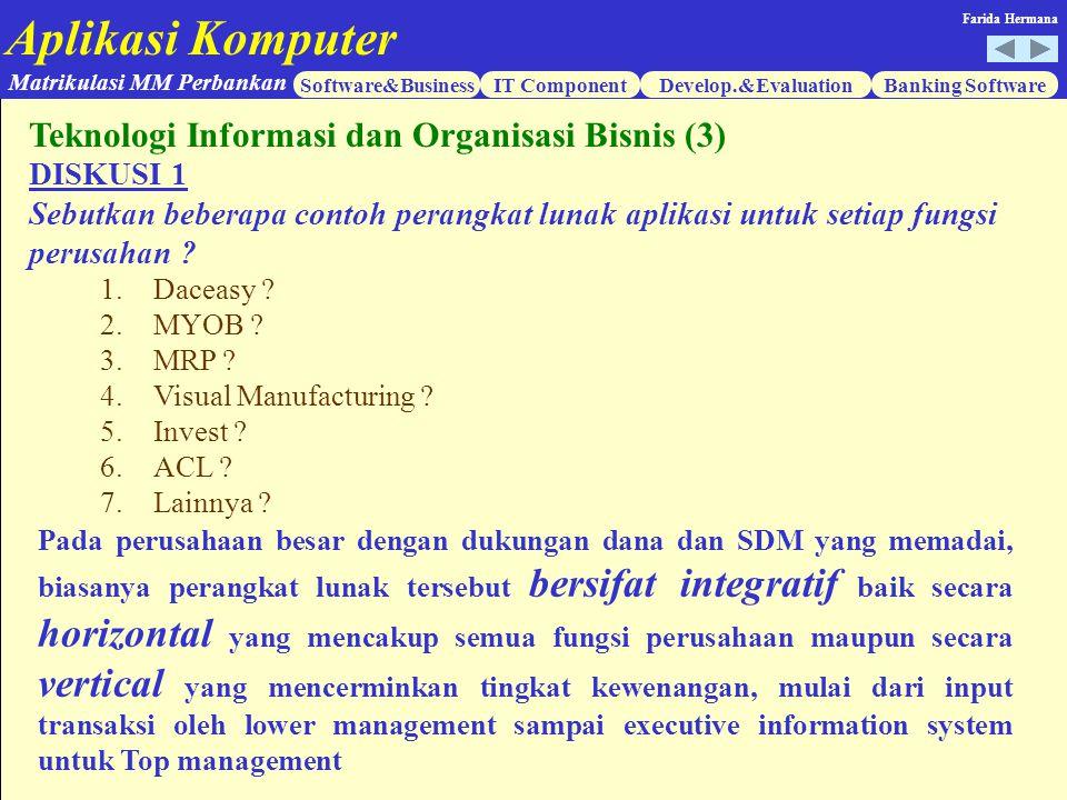 Teknologi Informasi dan Organisasi Bisnis (3)