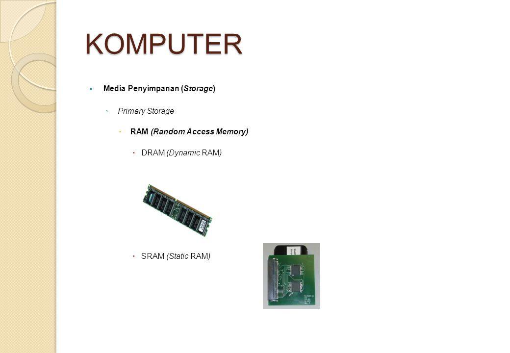 KOMPUTER Media Penyimpanan (Storage) Primary Storage