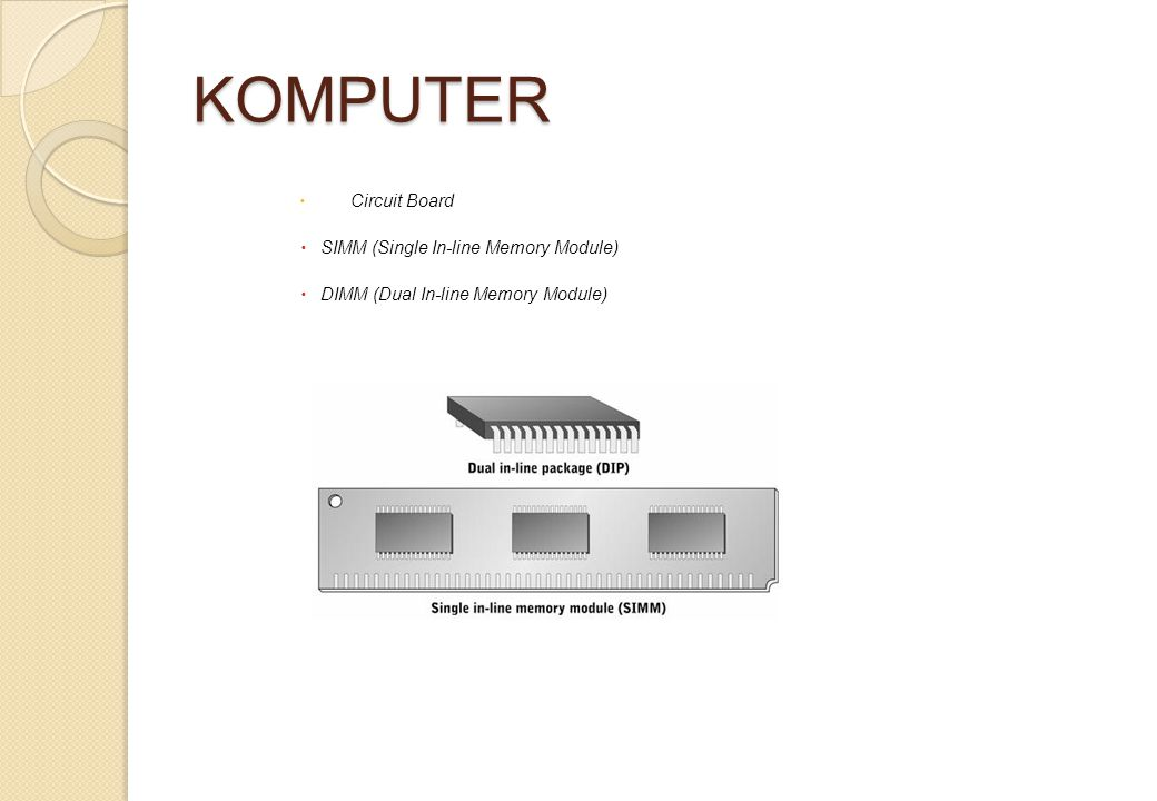 KOMPUTER Circuit Board SIMM (Single In-line Memory Module)