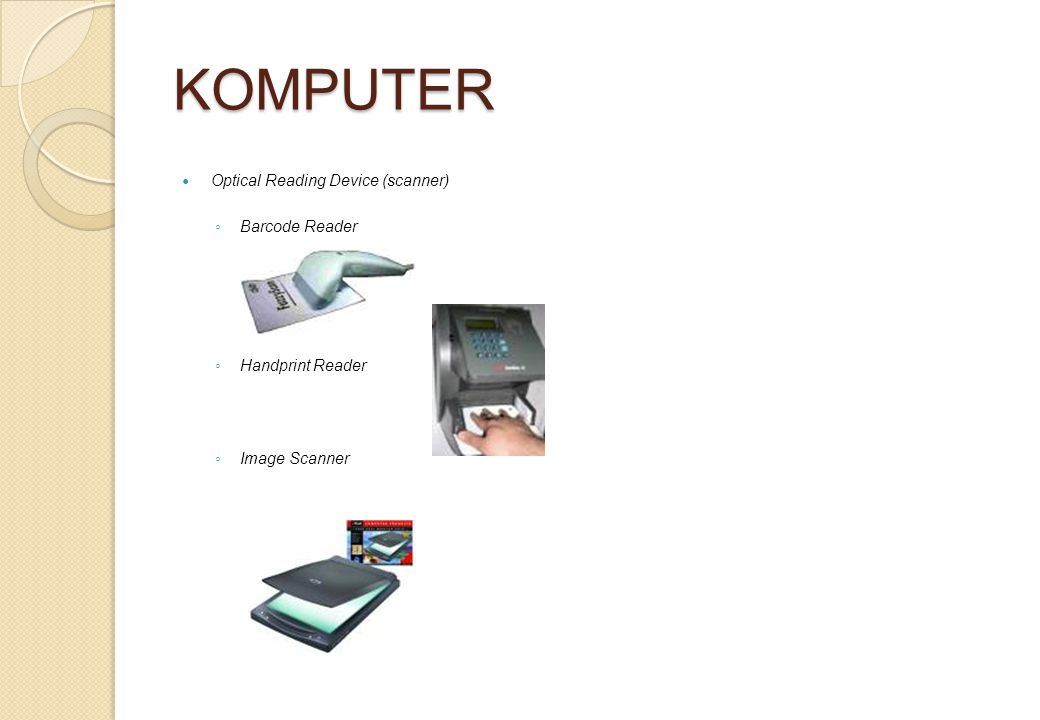 KOMPUTER Optical Reading Device (scanner) Barcode Reader