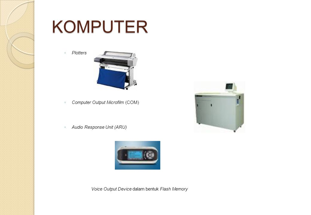 KOMPUTER Plotters Computer Output Microfilm (COM)