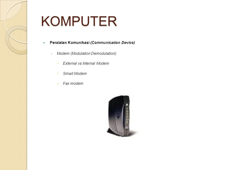 KOMPUTER Peralatan Komunikasi (Communication Device)