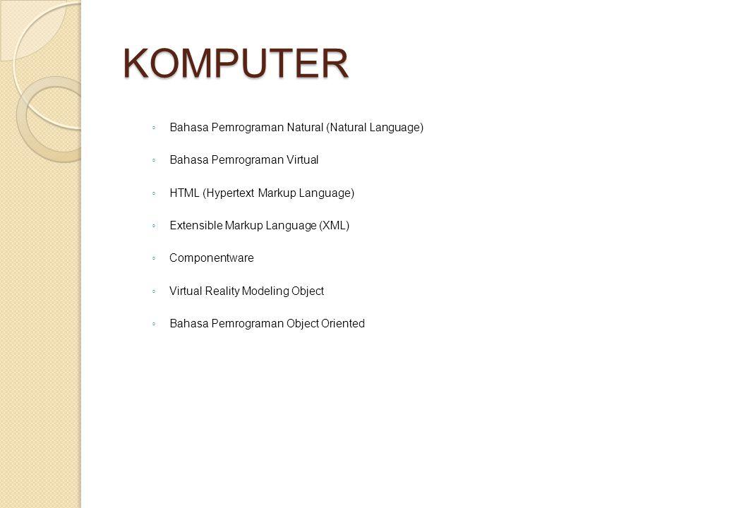 KOMPUTER Bahasa Pemrograman Natural (Natural Language)