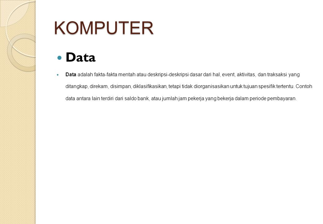 KOMPUTER Data.