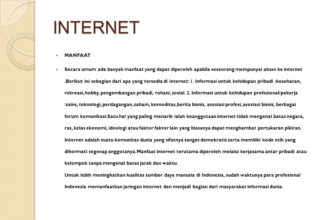 INTERNET MANFAAT.
