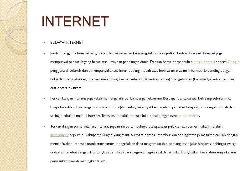 INTERNET BUDAYA INTERNET