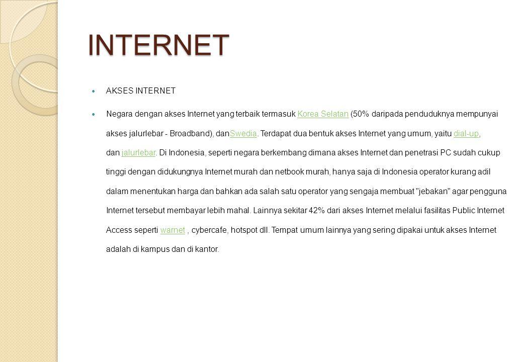 INTERNET AKSES INTERNET