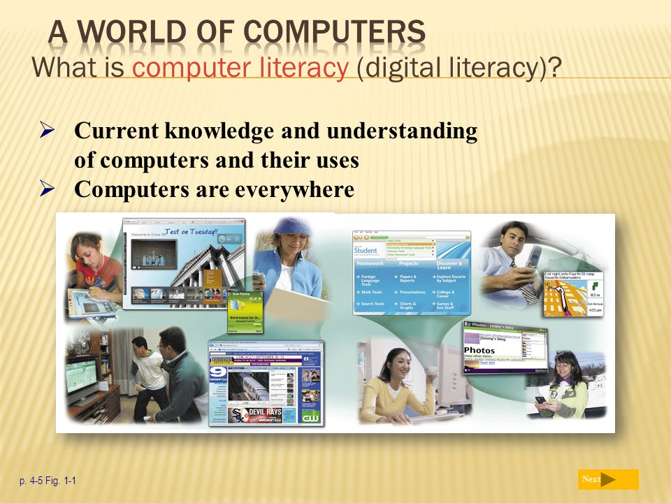 A World of Computers What is computer literacy (digital literacy)