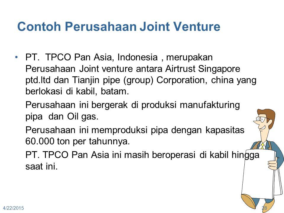 Contoh Perusahaan Joint Venture