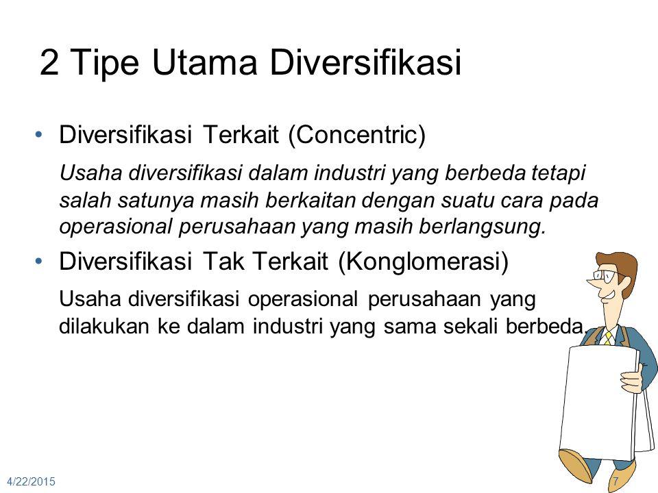 2 Tipe Utama Diversifikasi