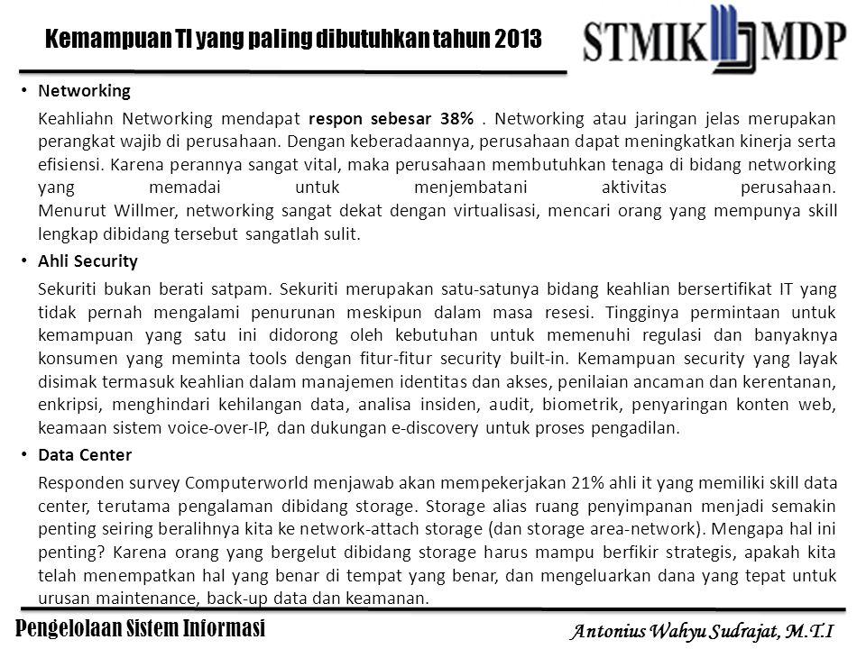Kemampuan TI yang paling dibutuhkan tahun 2013