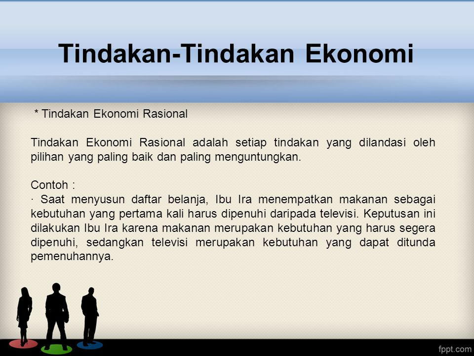 Tindakan-Tindakan Ekonomi