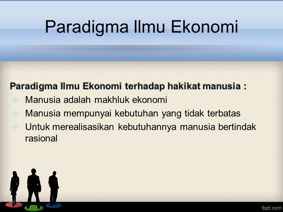 Paradigma Ilmu Ekonomi