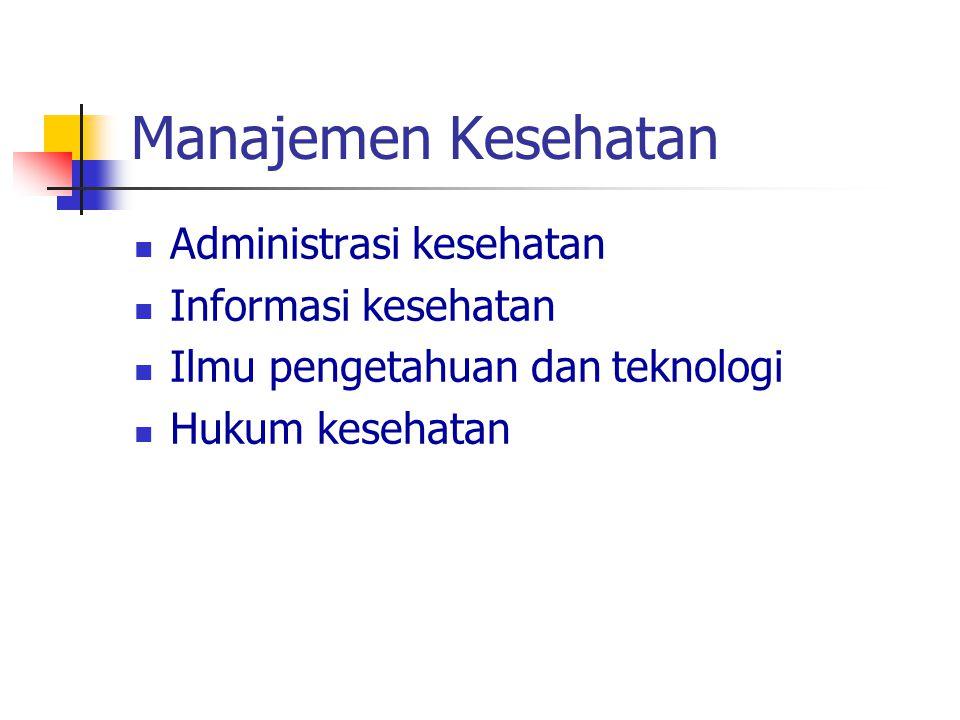 Manajemen Kesehatan Administrasi kesehatan Informasi kesehatan