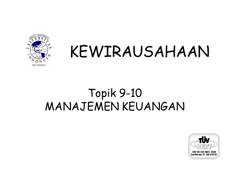 Topik 9-10 MANAJEMEN KEUANGAN