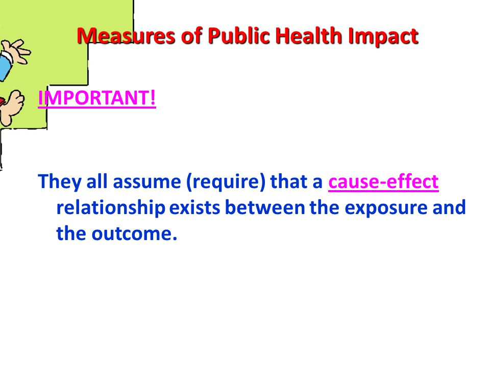 Measures of Public Health Impact