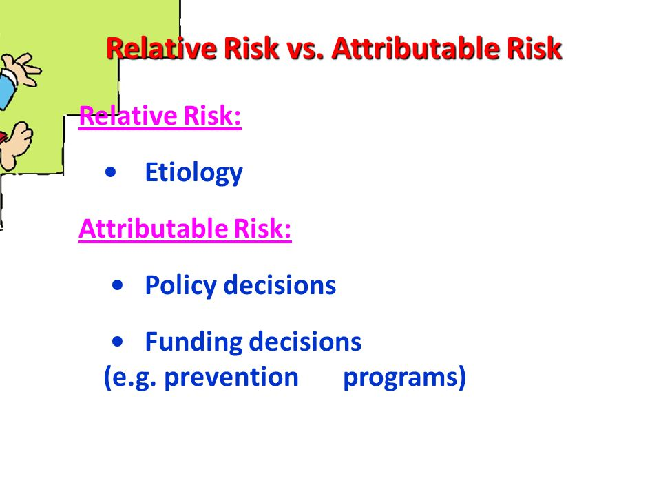 Relative Risk vs. Attributable Risk