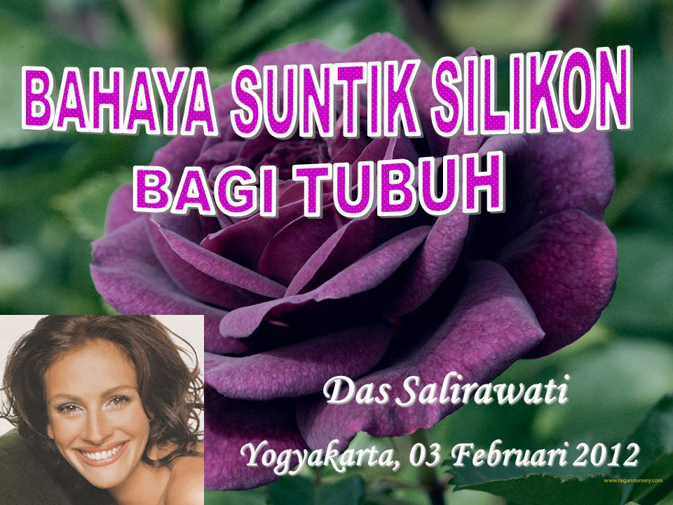 Das Salirawati Yogyakarta, 03 Februari 2012 BAHAYA SUNTIK SILIKON