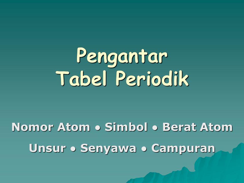 Pengantar Tabel Periodik