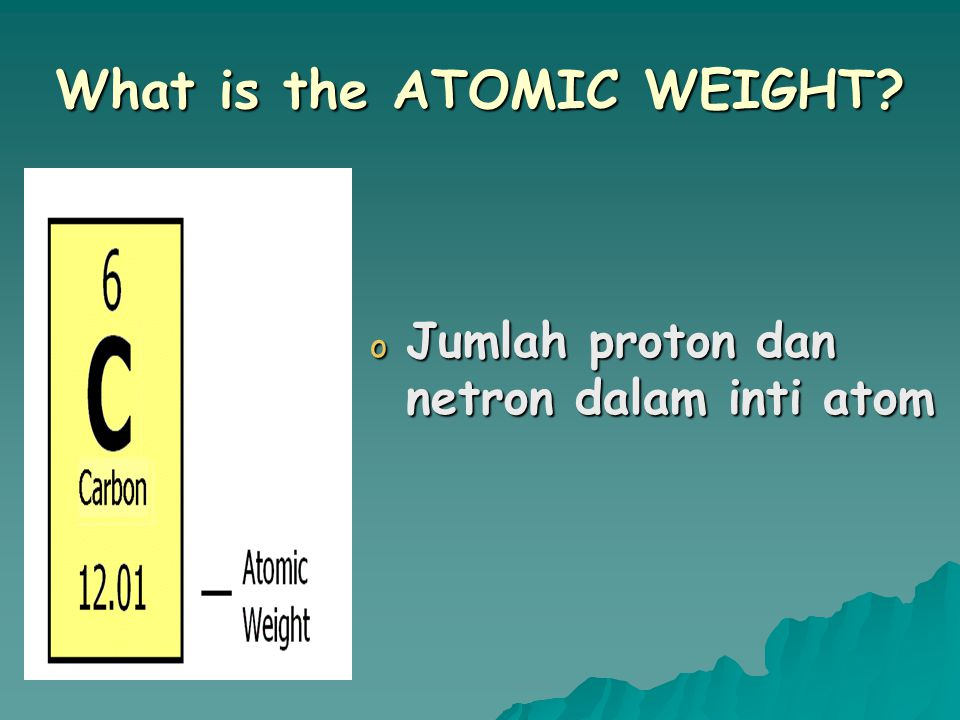 What is the ATOMIC WEIGHT