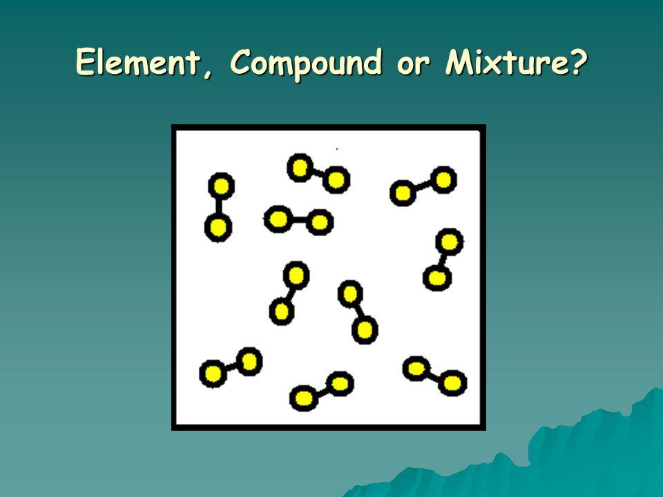 Element, Compound or Mixture