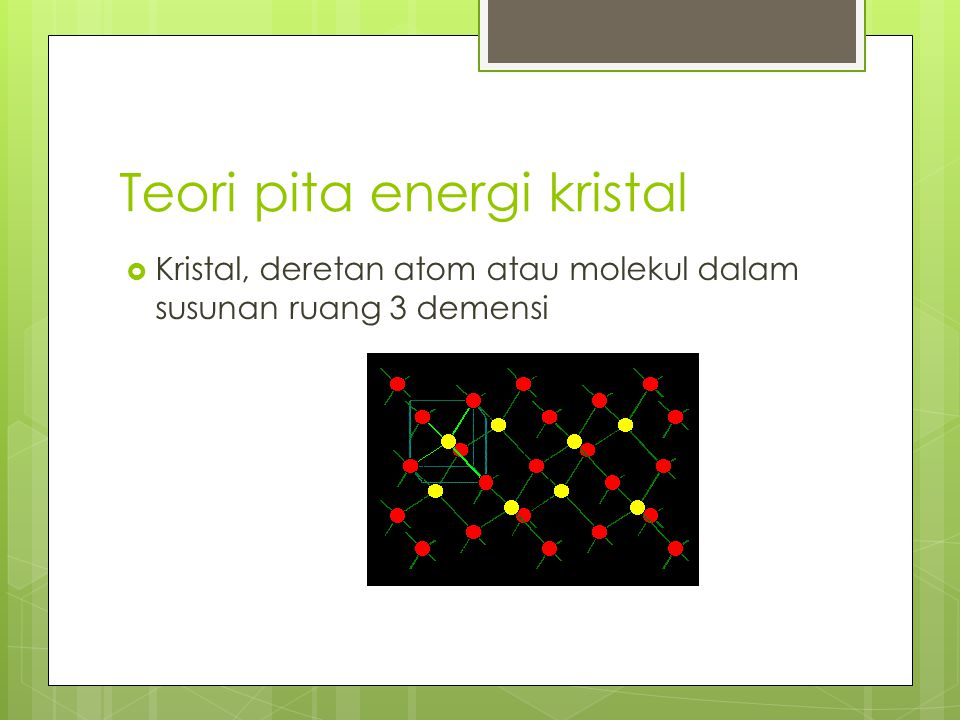 Teori pita energi kristal