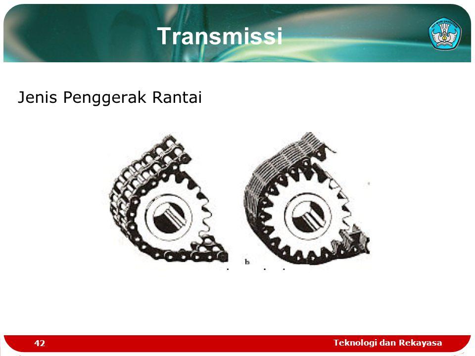 Transmissi Jenis Penggerak Rantai Teknologi dan Rekayasa