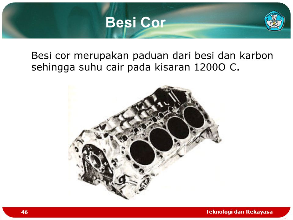 Besi Cor Besi cor merupakan paduan dari besi dan karbon sehingga suhu cair pada kisaran 1200O C.