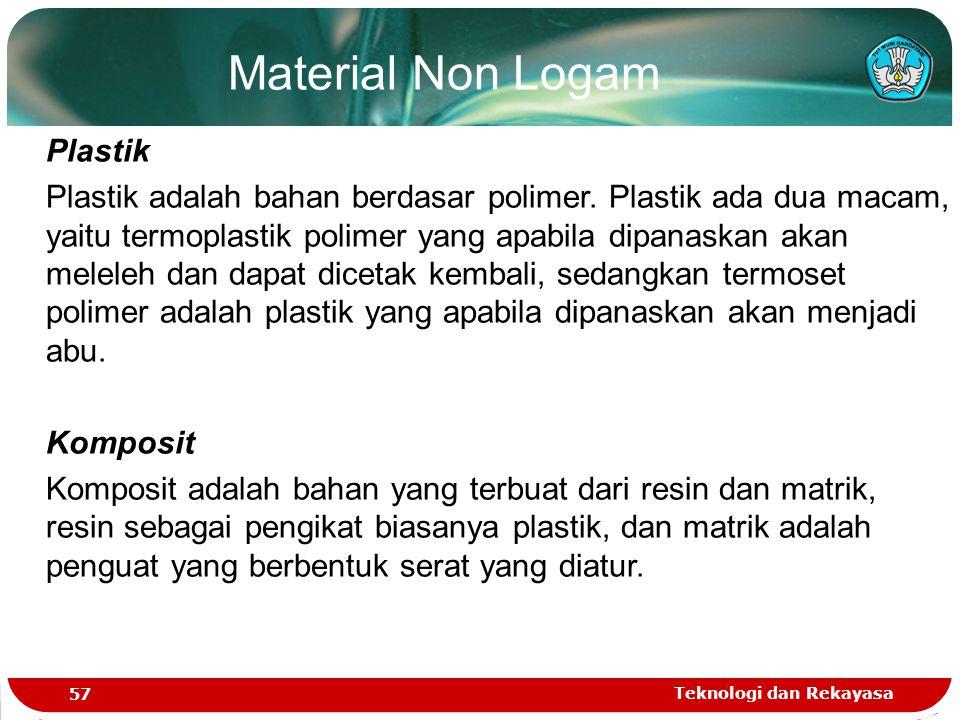 Material Non Logam Plastik