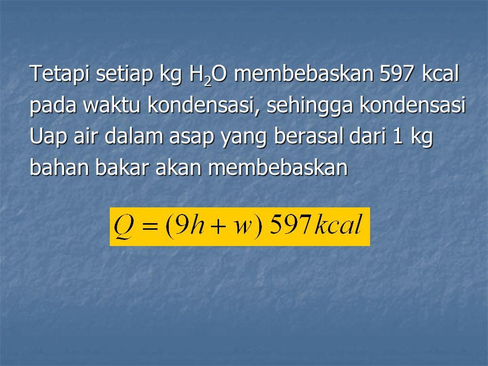 Tetapi setiap kg H2O membebaskan 597 kcal