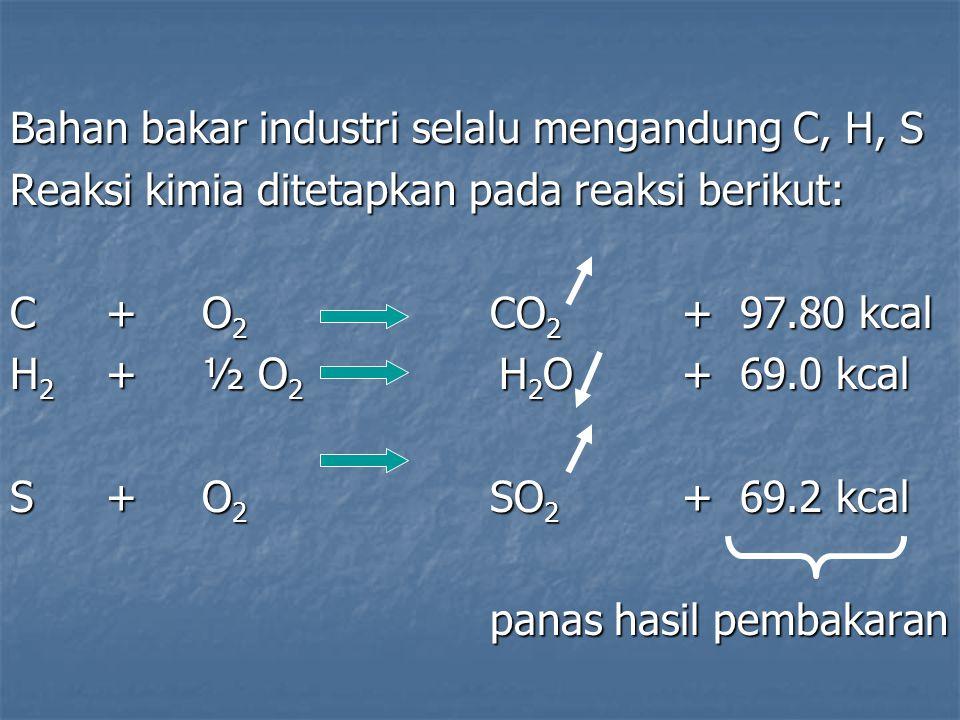 Bahan bakar industri selalu mengandung C, H, S